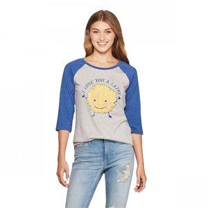 NWT Well Worn I Love You A Latke Raglan T-Shirt XL